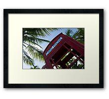 Caribbean telephone box Framed Print