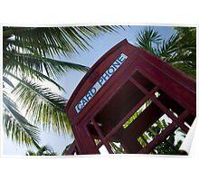 Caribbean telephone box Poster