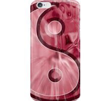 Yin Yang Red Abstract iPhone Case/Skin