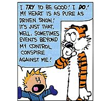 Calvin And Hobbes Quotes Photographic Print