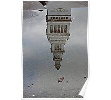 San Francisco Ferry Building Reflection in a Puddle Poster