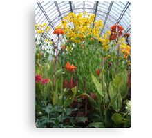 Glasshouse Flowers Canvas Print