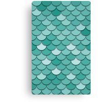 Teal Fish Scale Canvas Print