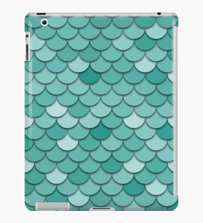 Teal Fish Scale iPad Case/Skin