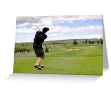Golf Swing L Greeting Card