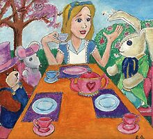Tea Time with Alice in Wonderland by DarkRubyMoon