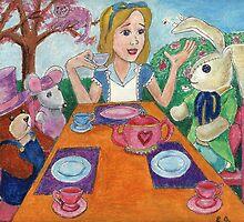 Tea Time with Alice in Wonderland by DarkRubyMoon