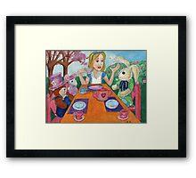Tea Time with Alice in Wonderland Framed Print