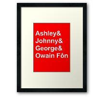 Wales' Williams Framed Print