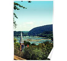 A different view of Harpers Ferry.... Poster