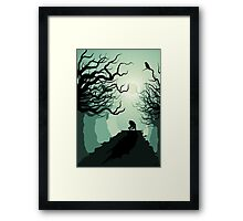 Crows and the Werewolf Framed Print