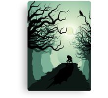 Crows and the Werewolf Canvas Print