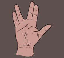 Live Long and Prosper Hand Sign Kids Clothes