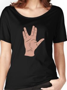 Live Long and Prosper Hand Sign Women's Relaxed Fit T-Shirt