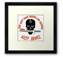 Agent Oranage: The Gift Framed Print