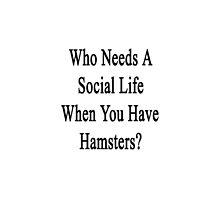 Who Needs A Social Life When You Have Hamsters?  by supernova23