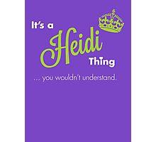Heidi Thing Photographic Print