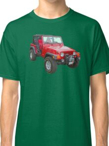 Red Jeep Wrangler Rubicon 4x4 Classic T-Shirt