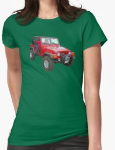Red Jeep Wrangler Rubicon 4x4 T-Shirt