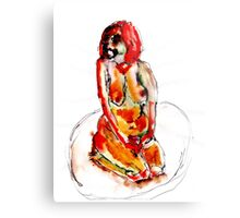 Clown Girl Metal Print