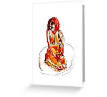 Clown Girl Greeting Card