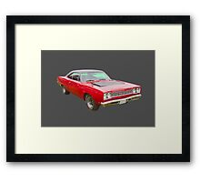 Red 1968 Plymouth Roadrunner Muscle Car Framed Print