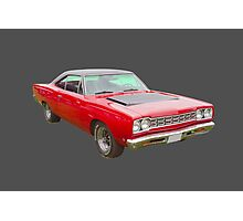 Red 1968 Plymouth Roadrunner Muscle Car Photographic Print