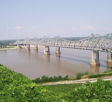 Mississippi River Bridge - Natchez, MS by Dan McKenzie