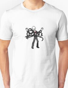 8bit slenderman slender man creepypasta geek funny nerd Unisex T-Shirt