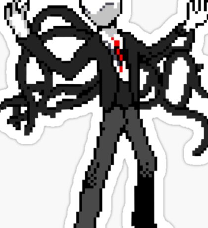 8bit slenderman slender man creepypasta geek funny nerd Sticker