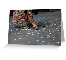 flower collector  Greeting Card