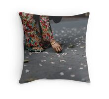 flower collector  Throw Pillow