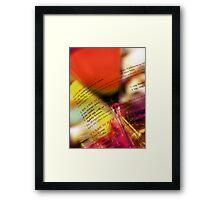 red glass Framed Print