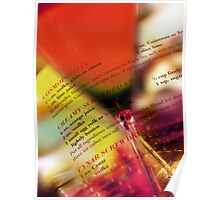 red glass Poster