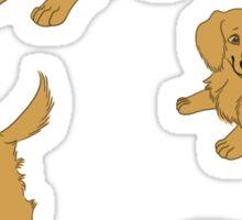 Golden Retriever Puppy Pattern - Blue Sticker