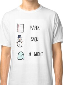 Paper, Snow, a Ghost!! Classic T-Shirt