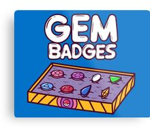 Gem Badges Metal Print