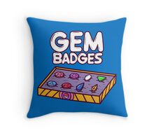 Gem Badges Throw Pillow