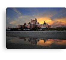 Don Cesar sunset Canvas Print