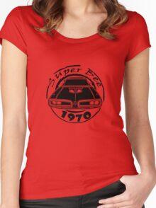 1970 dodge super bee graphic geek funny nerd Women's Fitted Scoop T-Shirt