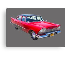 1958 Plymouth Savoy Classic Car Canvas Print