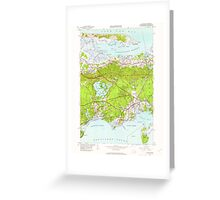 Massachusetts  USGS Historical Topo Map MA Hyannis 350224 1950 24000 Greeting Card