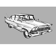 1958 Plymouth Savoy Classic Car Illustration Photographic Print