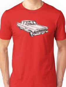 1958 Plymouth Savoy Classic Car Illustration Unisex T-Shirt