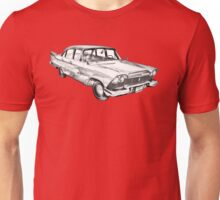 1958 Plymouth Savoy Classic Car Illustration Unisex T-Shirt
