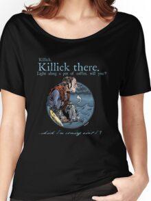 That Mumping Villain (Lt. Blue Text for Dark Tees) Women's Relaxed Fit T-Shirt