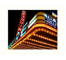 esquire theater, chicago Art Print