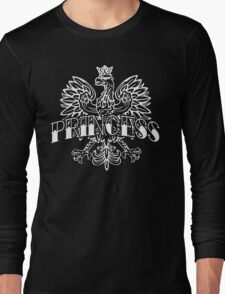 Cute Polish Princess White Eagle Long Sleeve T-Shirt