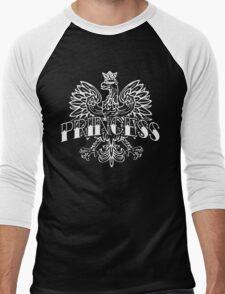 Cute Polish Princess White Eagle Men's Baseball ¾ T-Shirt