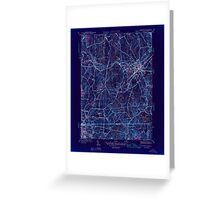Massachusetts  USGS Historical Topo Map MA Franklin 351707 1946 31680 Inverted Greeting Card